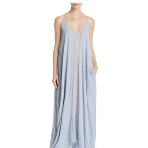 Elan Maxi Embroidered Swim Cover Up NWT
